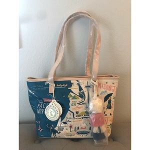 Spartina 449 Embroidered Pacific NW Tote BRAND NEW